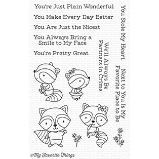 My Favorite Things RAVING RACCOONS Clear Stamps CS257*
