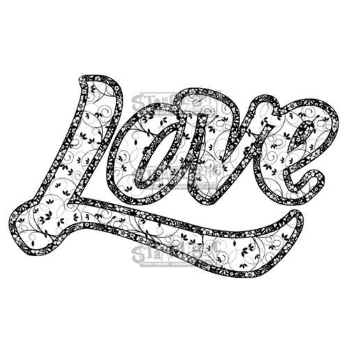 Stamplistic Cling Stamp LOVE Rubber UM j180101* Preview Image