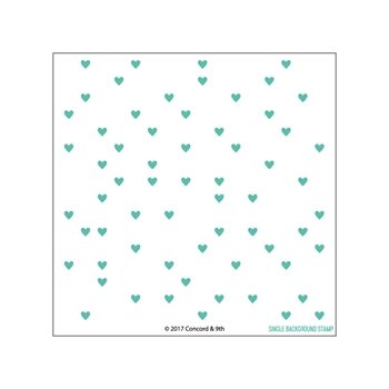 Concord & 9th HEART TURNABOUT Clear Stamp Set 10313*