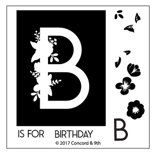 Concord & 9th MONOGRAM B Clear Stamp Set 10317* Preview Image