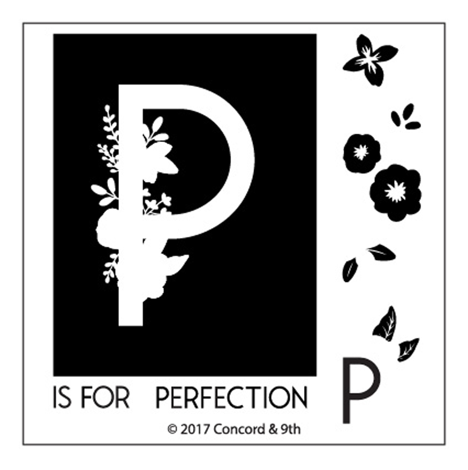 Concord & 9th MONOGRAM P Clear Stamp Set 10331* zoom image
