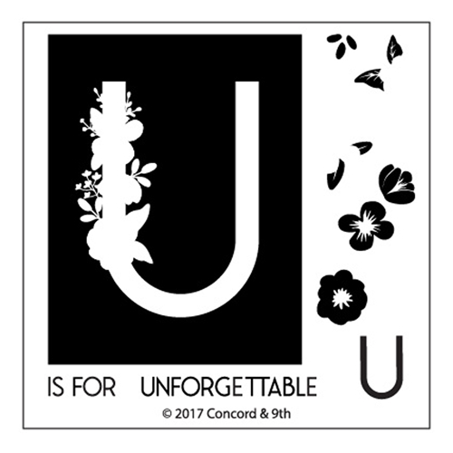 Concord & 9th MONOGRAM U Clear Stamp Set 10336* Preview Image