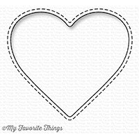 My Favorite Things STITCHED HEART PEEK A BOO WINDOW Die-Namics MFT1230