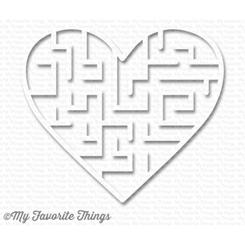 My Favorite Things WHITE Heart Maze Shapes 3587