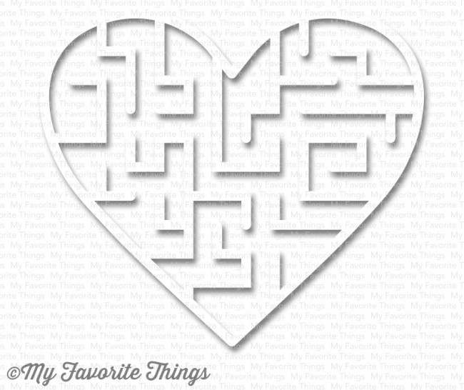 My Favorite Things WHITE Heart Maze Shapes 3587 zoom image
