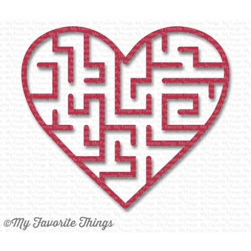 My Favorite Things WILD CHERRY Heart Maze Shapes 3594 Preview Image