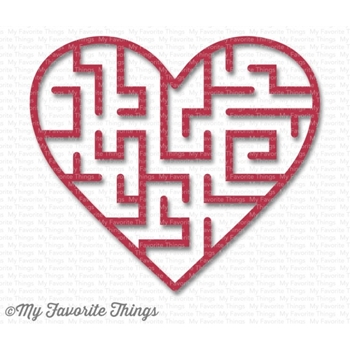 My Favorite Things WILD CHERRY Heart Maze Shapes 3594