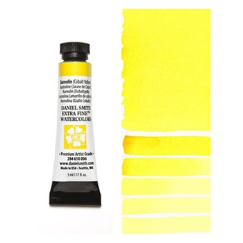 Daniel Smith AUREOLIN COBALT YELLOW 5ML Extra Fine Watercolor 284610006*