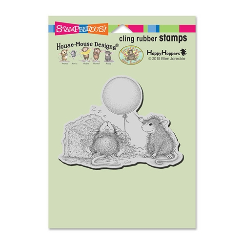 Stampendous Cling Stamp BIRTHDAY MISCHIEF Rubber UM hmcp89 House Mouse Preview Image
