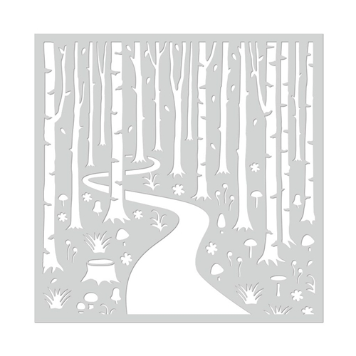 Hero Arts Stencil INTO THE WOODS SA112 Preview Image