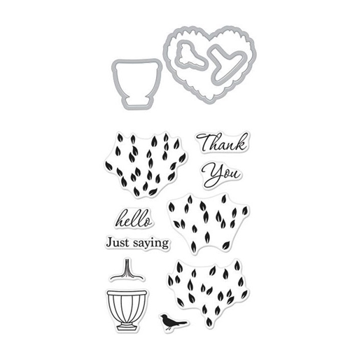 Hero Arts Stamp and Cuts LAYERED TOPIARY Set DC224* Preview Image