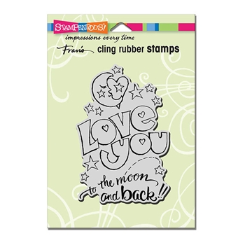 Stampendous Cling Stamp GREAT BIG LOVE Rubber UM crp317*