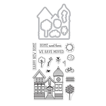 Hero Arts Stamp and Cuts HOUSE Set DC225*