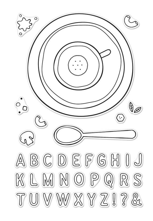 Hero Arts Clear Stamps ALPHABET SOUP CM233 zoom image