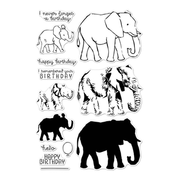 Hero Arts Clear Stamps COLOR LAYERING  ELEPHANT CM224*