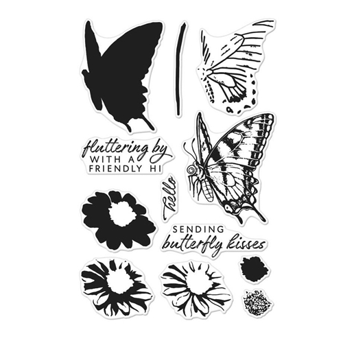 Hero Arts Clear Stamps COLOR LAYERING SWALLOWTAIL CM225 Preview Image