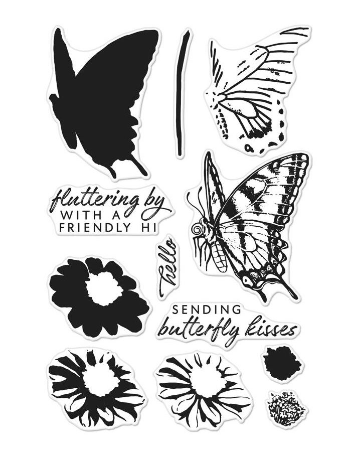 Hero Arts Clear Stamps COLOR LAYERING SWALLOWTAIL CM225 zoom image