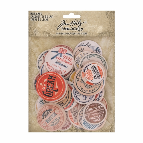 Tim Holtz Idea-ology MILK CAPS th93684 Preview Image