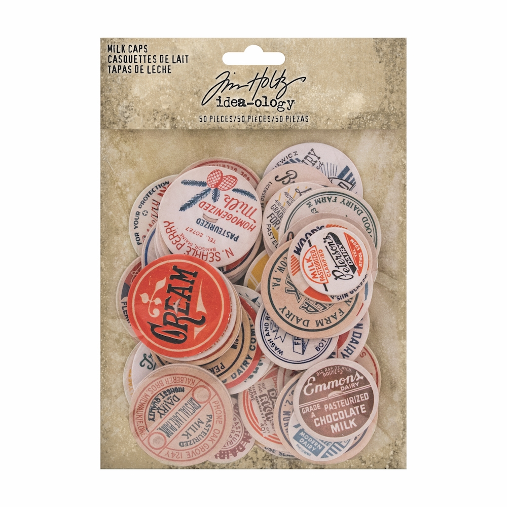 Tim Holtz Idea-ology MILK CAPS th93684 zoom image