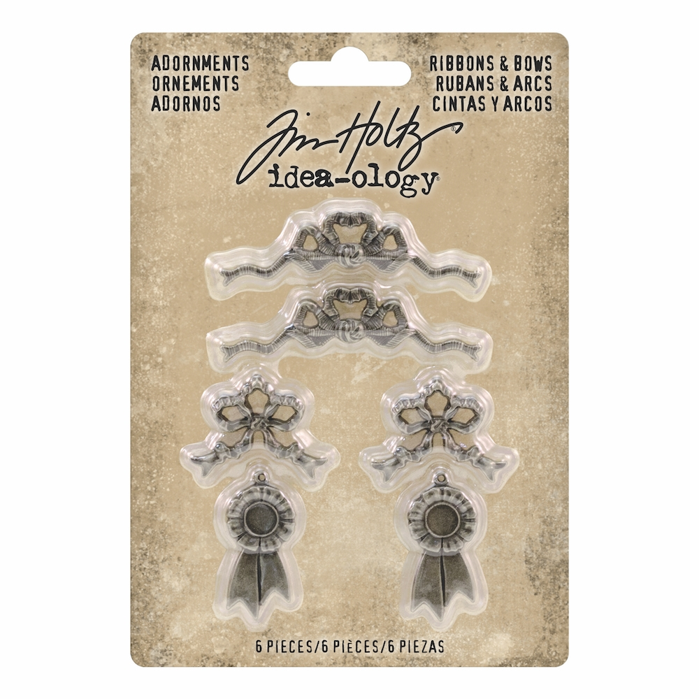 Tim Holtz Idea-ology RIBBONS & BOWS Adornments th93686 zoom image