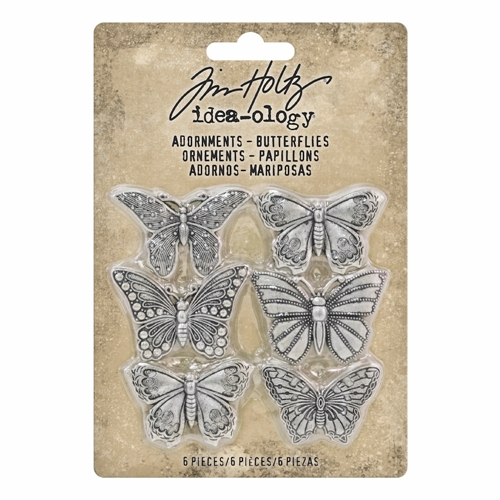 Tim Holtz Idea-ology BUTTERFLIES Adornments th93689 Preview Image