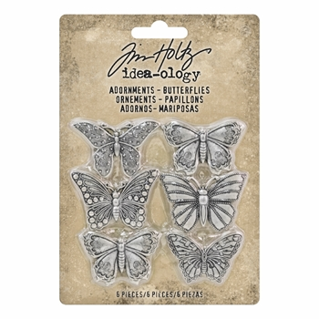 Tim Holtz Idea-ology BUTTERFLIES Adornments th93689