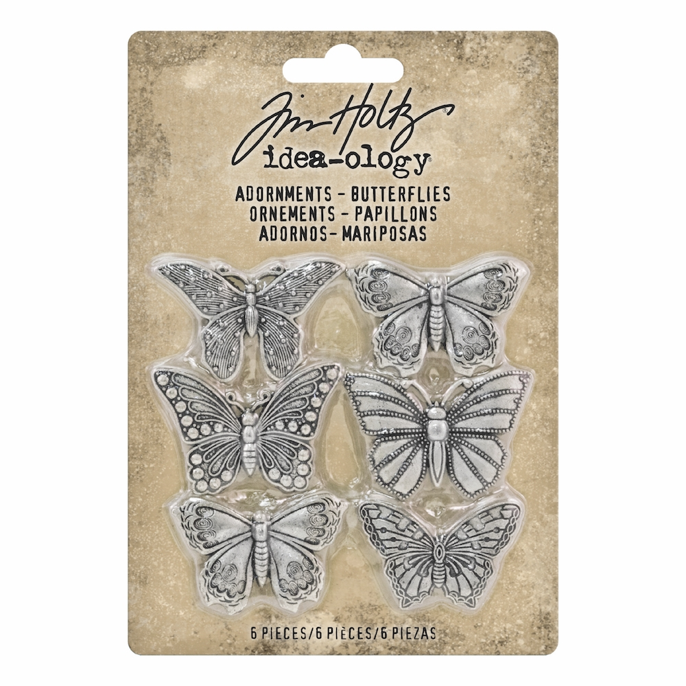 Tim Holtz Idea-ology BUTTERFLIES Adornments th93689 zoom image