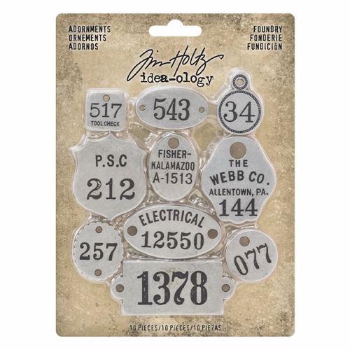 Tim Holtz Idea-ology FOUNDRY Adornments th93690 Preview Image