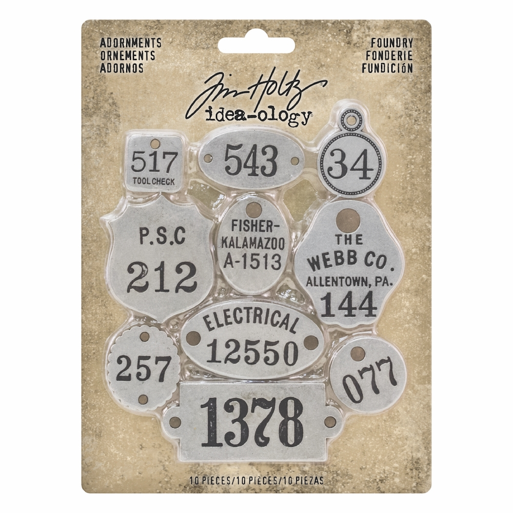 Tim Holtz Idea-ology FOUNDRY Adornments th93690 zoom image