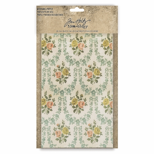 Tim Holtz Idea-ology WORN WALLPAPER th93692 Preview Image