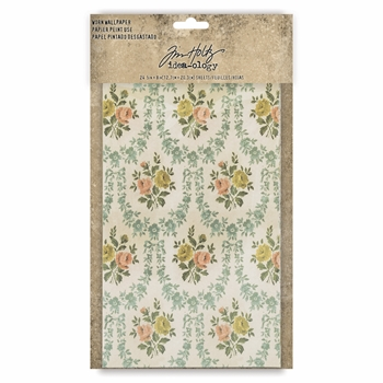 Tim Holtz Idea-ology WORN WALLPAPER th93692