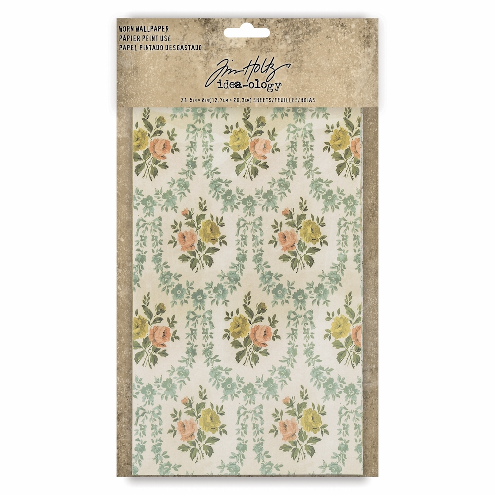 Tim Holtz Idea-ology WORN WALLPAPER th93692 zoom image