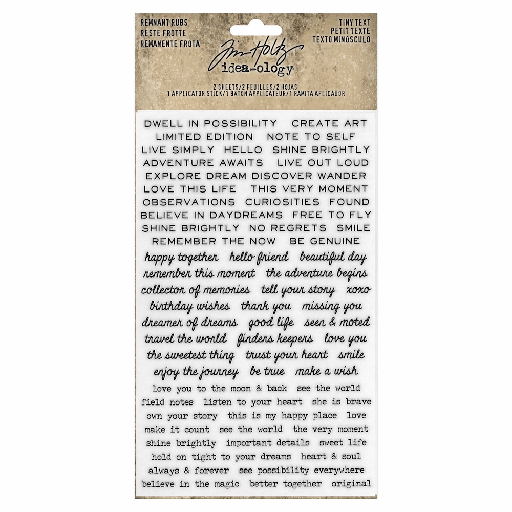 Tim Holtz Idea-ology TINY TEXT Remnant Rubs th93695 zoom image