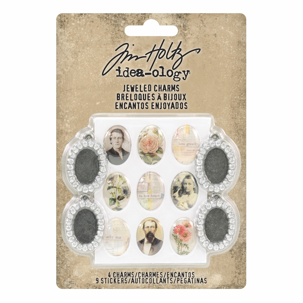 Tim Holtz Idea-ology JEWELED CHARMS th93697 zoom image