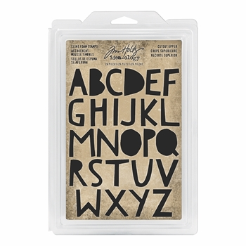 Tim Holtz Idea-ology CUTOUT UPPER Cling Foam Stamps th93699*