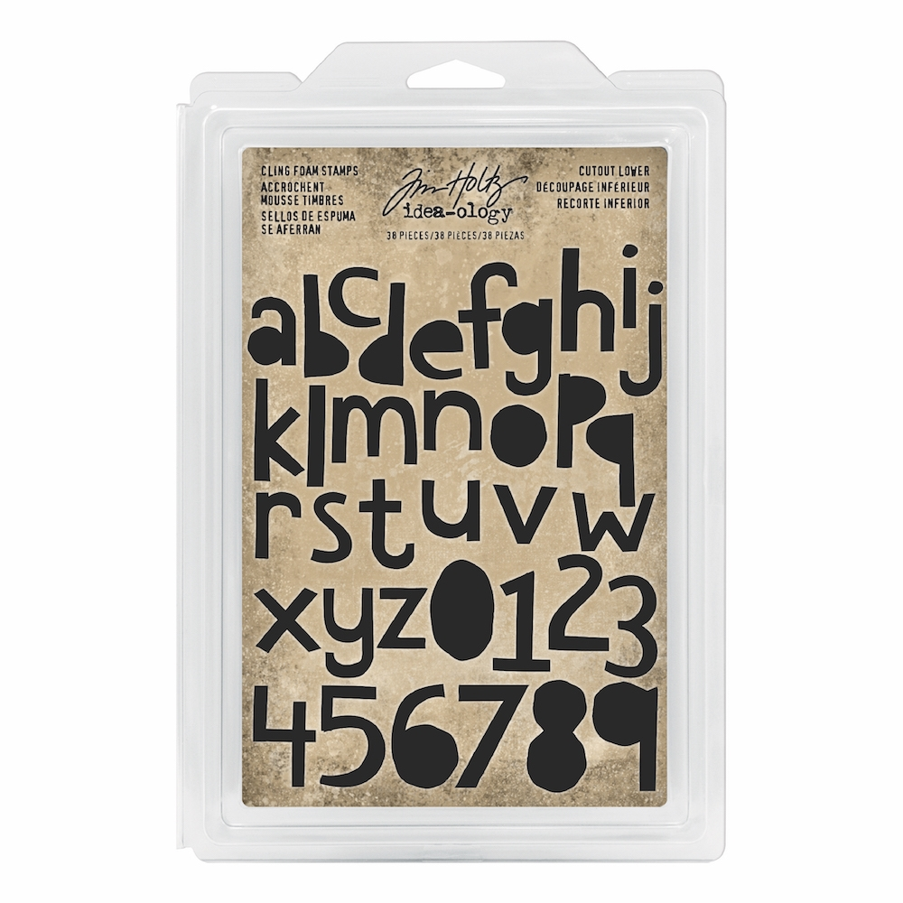 Tim Holtz Idea-ology CUTOUT LOWER Cling Foam Stamps th93700 zoom image