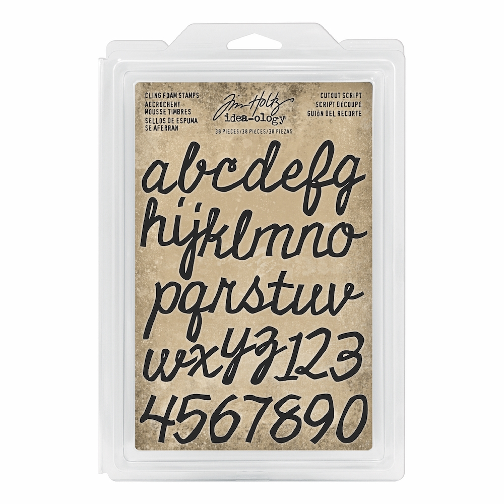 Tim Holtz Idea-ology CUTOUT SCRIPT Cling Foam Stamps th93701 zoom image