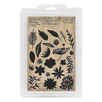 Tim Holtz Idea-ology CUTOUT FLORAL Cling Foam Stamps th93703