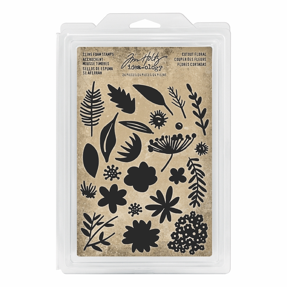 Tim Holtz Idea-ology CUTOUT FLORAL Cling Foam Stamps th93703 zoom image