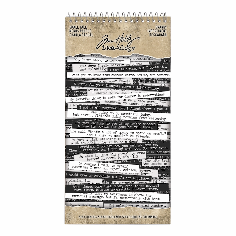 Tim Holtz Idea-ology SNARKY Small Talk Stickers th93704 zoom image