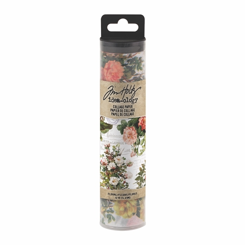 Tim Holtz Idea-ology FLORAL Collage Paper th93707 Preview Image