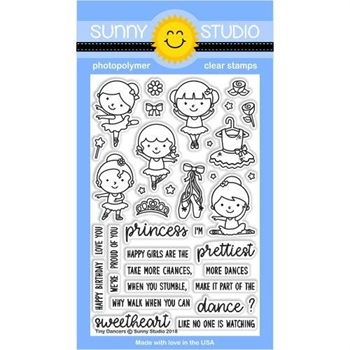 Sunny Studio TINY DANCERS Clear Stamp Set SSCL-183