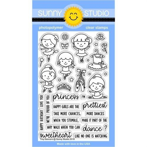 Sunny Studio TINY DANCERS Clear Stamp Set SSCL-183 zoom image