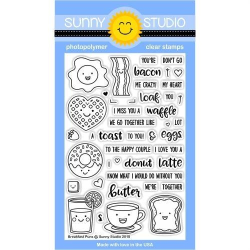 Sunny Studio BREAKFAST PUNS Clear Stamp Set SSCL-181 zoom image