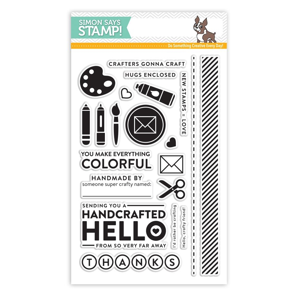 Simon's Exclusive Crafty Friend Clear Stamp Set