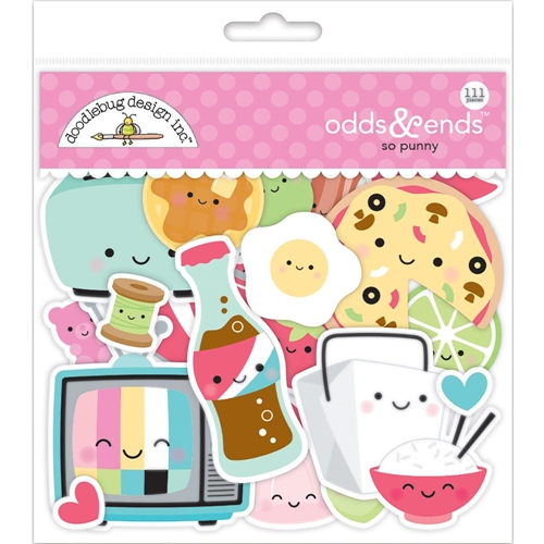 Doodlebug SO PUNNY Odds and Ends Die Cut Shapes 5903 Preview Image