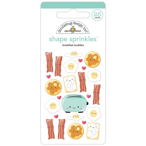 Doodlebug BREAKFAST BUDDIES Shape Sprinkles So Punny 5835 Preview Image