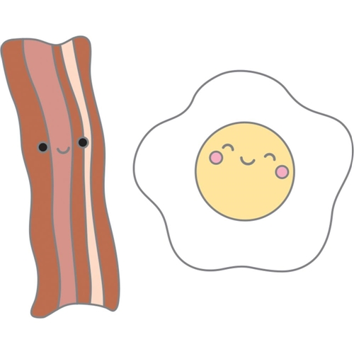 Doodlebug BACON AND EGGS So Punny Collectable Enamel Pins 5918 Preview Image