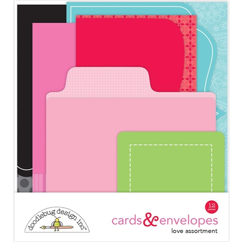 Doodlebug LOVE Cards and Envelopes 5824* Preview Image