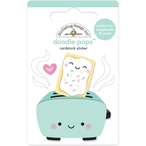 Doodlebug TOASTER TIME Doodle Pops 3D Stickers So Punny 5850 Preview Image